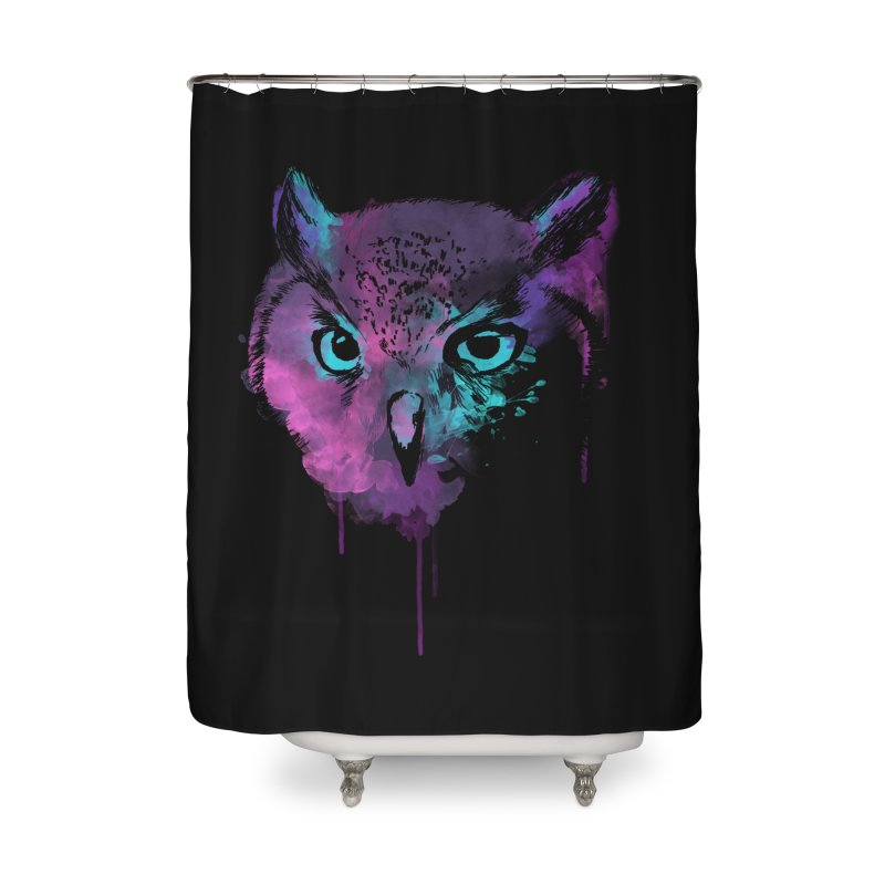 OWL SPLASH Home Shower Curtain by Winterglaze's Artist Shop