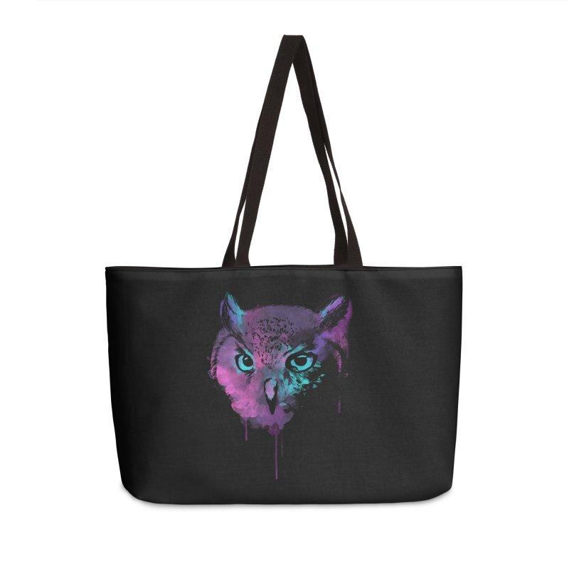 OWL SPLASH Accessories Weekender Bag Bag by Winterglaze's Artist Shop