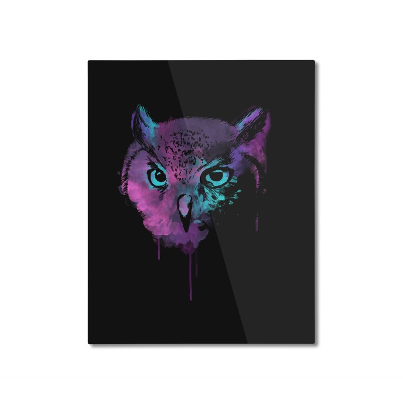 OWL SPLASH Home Mounted Aluminum Print by Winterglaze's Artist Shop