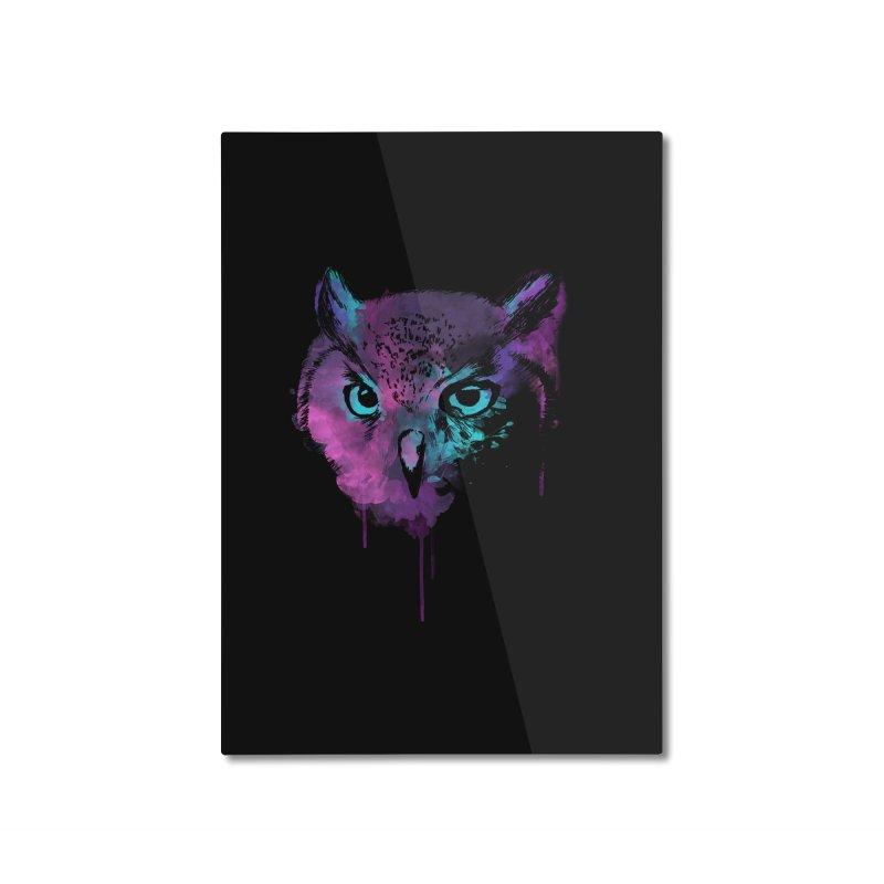 OWL SPLASH Home Mounted Aluminum Print by Winterglaze's Artist Shop