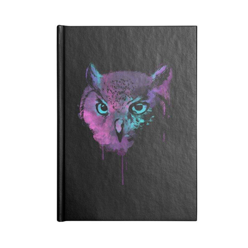 OWL SPLASH Accessories Lined Journal Notebook by Winterglaze's Artist Shop