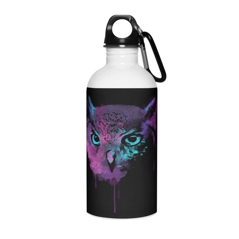 OWL SPLASH Accessories Water Bottle by Winterglaze's Artist Shop