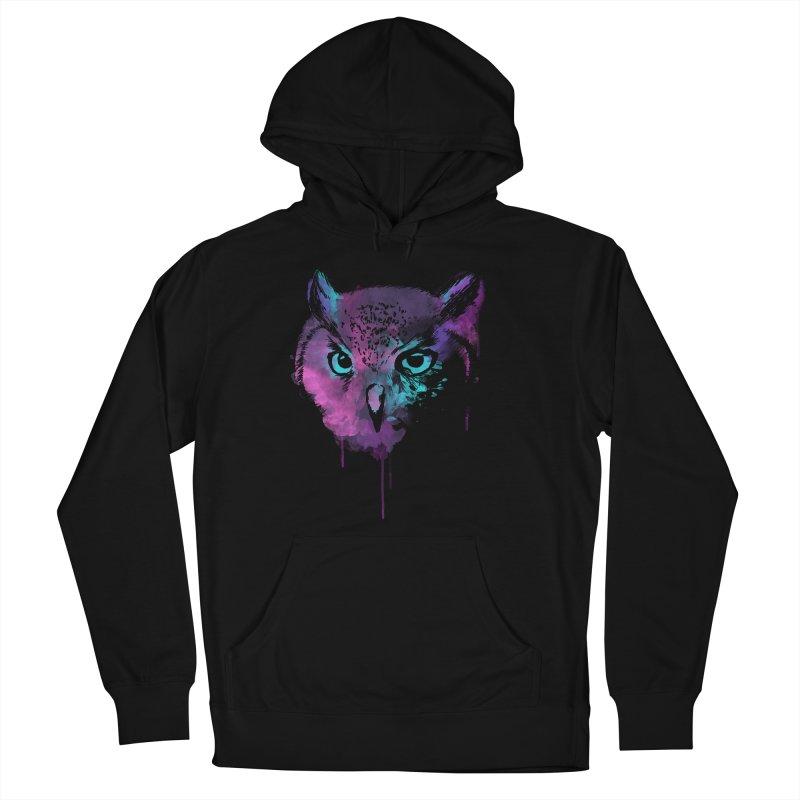 OWL SPLASH Women's Pullover Hoody by Winterglaze's Artist Shop
