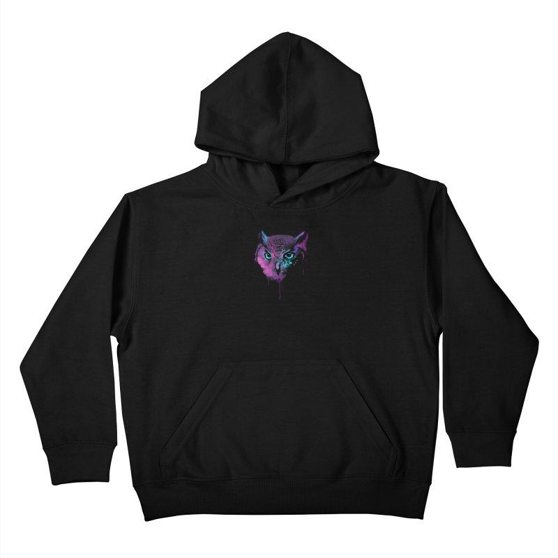 OWL SPLASH Kids Pullover Hoody by Winterglaze's Artist Shop