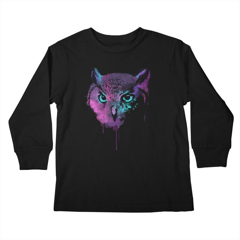 OWL SPLASH Kids Longsleeve T-Shirt by Winterglaze's Artist Shop