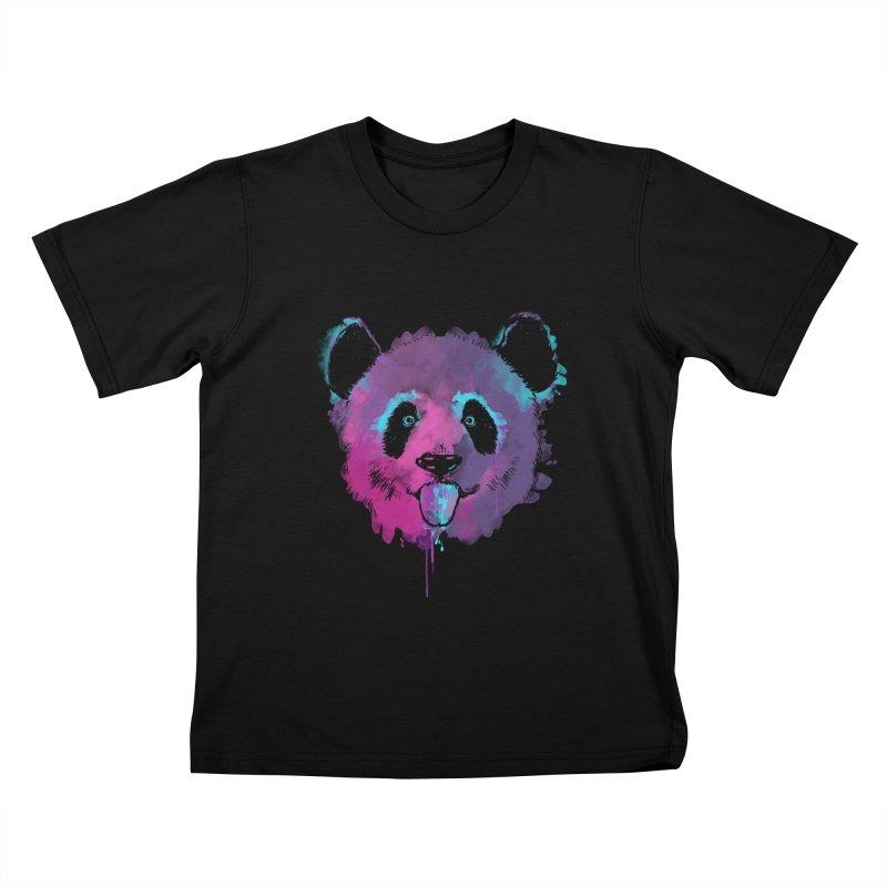 PANDA SPLASH Kids T-Shirt by Winterglaze's Artist Shop