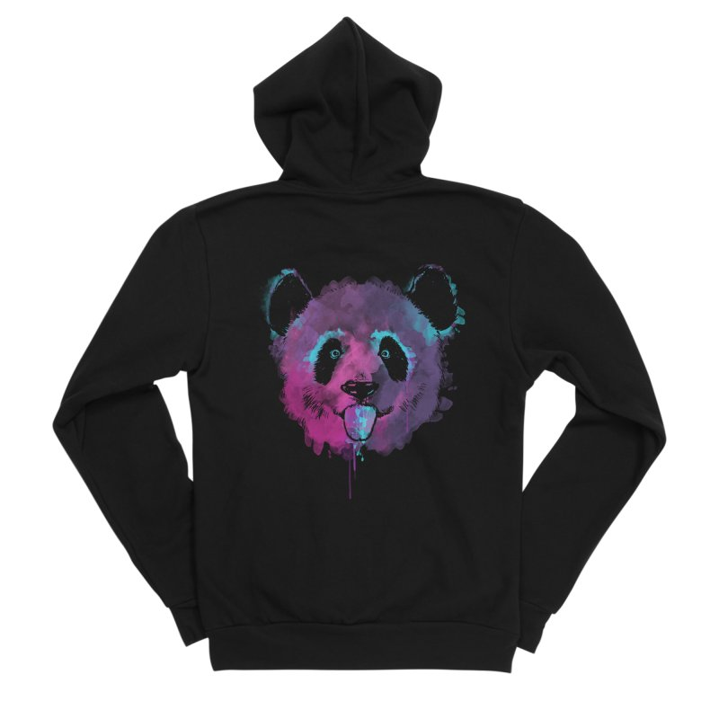 PANDA SPLASH Men's Zip-Up Hoody by Winterglaze's Artist Shop