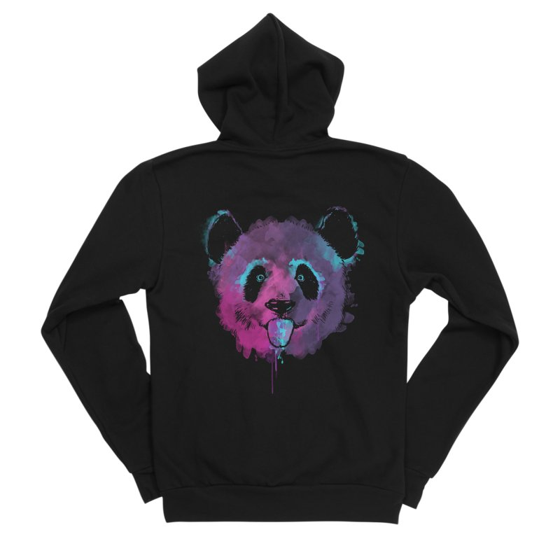 PANDA SPLASH Men's Sponge Fleece Zip-Up Hoody by Winterglaze's Artist Shop