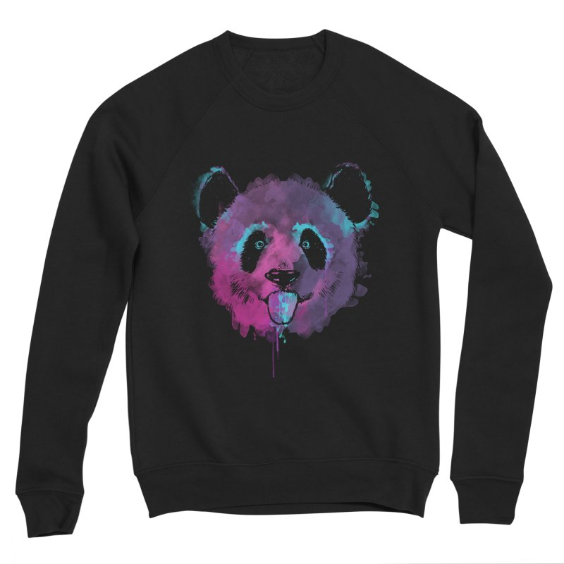 PANDA SPLASH Men's Sponge Fleece Sweatshirt by Winterglaze's Artist Shop