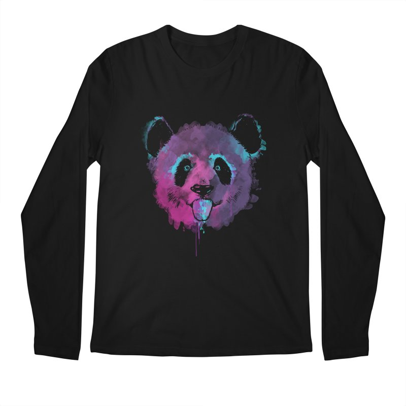 PANDA SPLASH Men's Longsleeve T-Shirt by Winterglaze's Artist Shop
