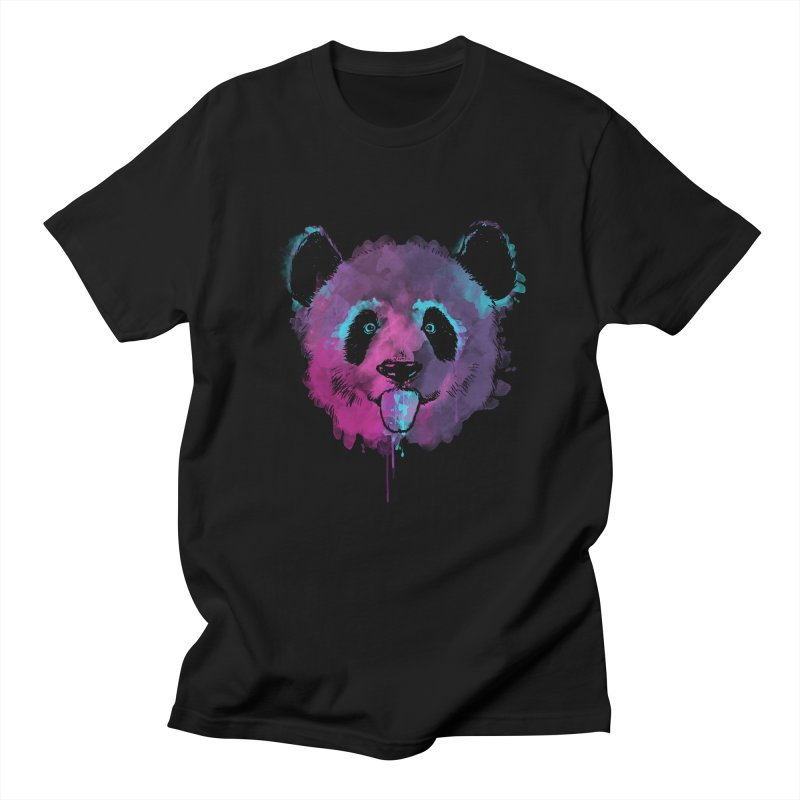 PANDA SPLASH Men's Regular T-Shirt by Winterglaze's Artist Shop