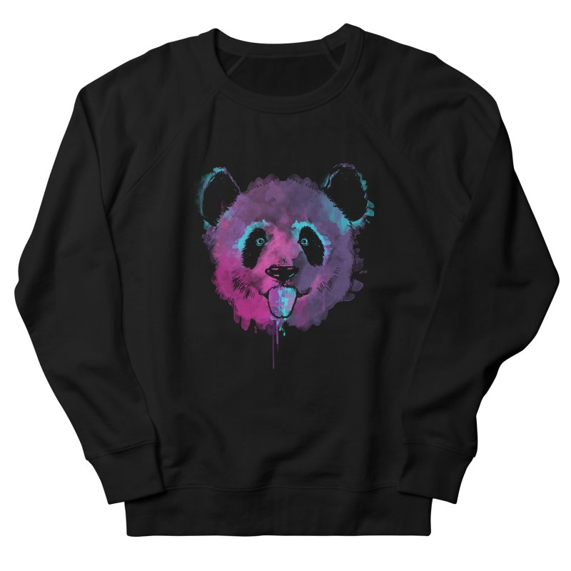 PANDA SPLASH Women's French Terry Sweatshirt by Winterglaze's Artist Shop