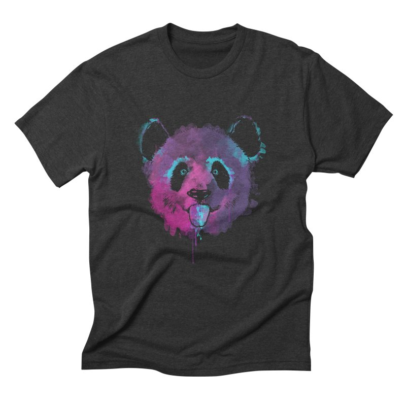 PANDA SPLASH Men's Triblend T-Shirt by Winterglaze's Artist Shop