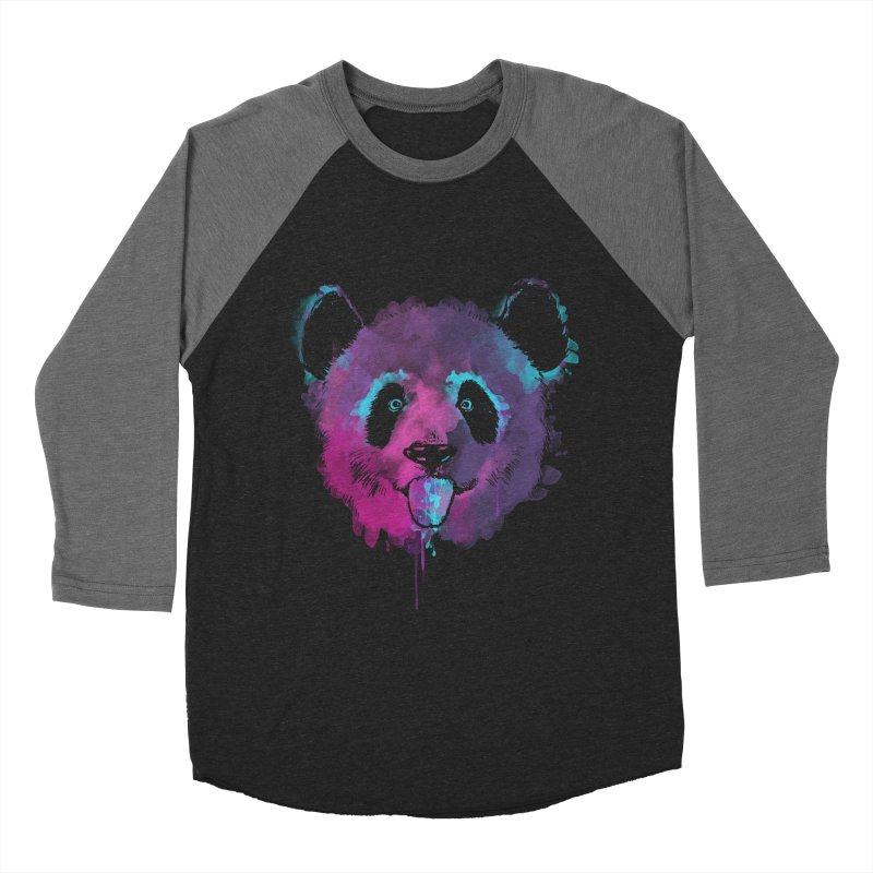 PANDA SPLASH Men's Baseball Triblend Longsleeve T-Shirt by Winterglaze's Artist Shop