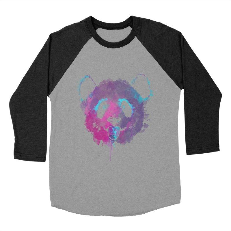 PANDA SPLASH Men's Baseball Triblend Longsleeve T-Shirt by Winterglaze's Artist Shop