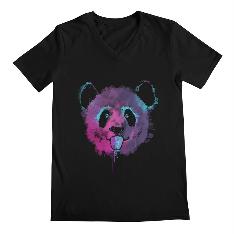 PANDA SPLASH Men's Regular V-Neck by Winterglaze's Artist Shop