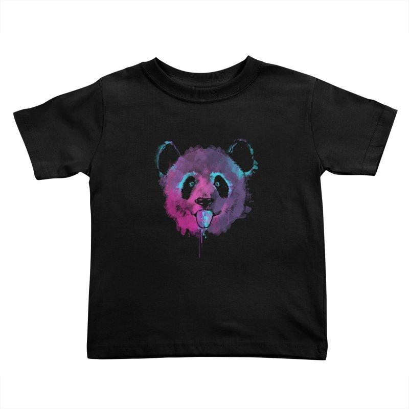 PANDA SPLASH Kids Toddler T-Shirt by Winterglaze's Artist Shop