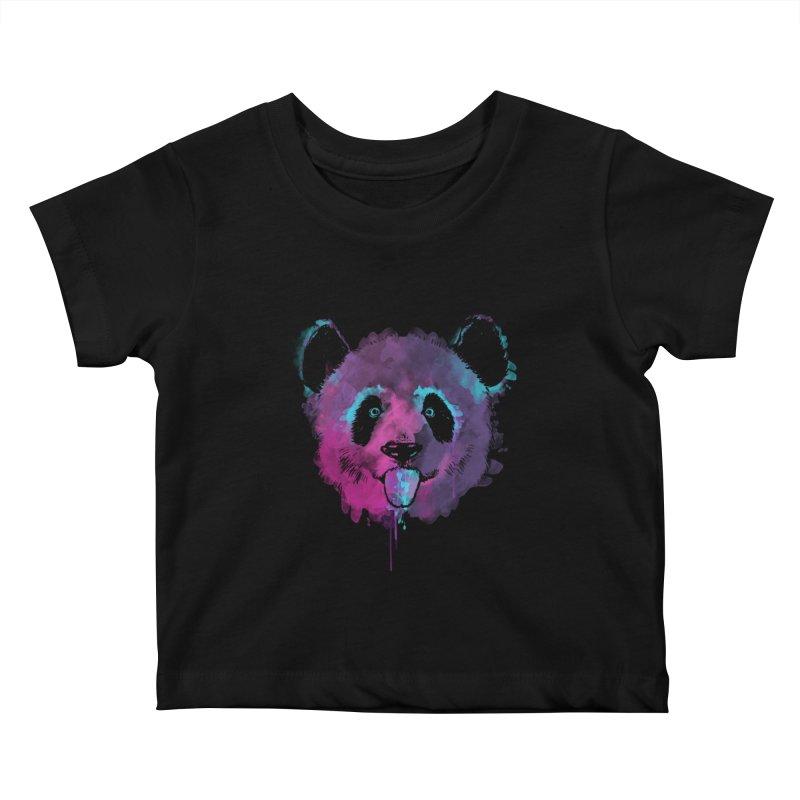 PANDA SPLASH Kids Baby T-Shirt by Winterglaze's Artist Shop