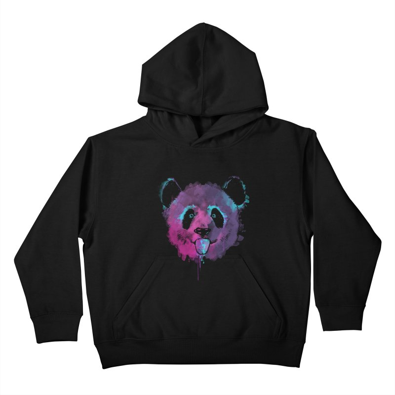 PANDA SPLASH Kids Pullover Hoody by Winterglaze's Artist Shop