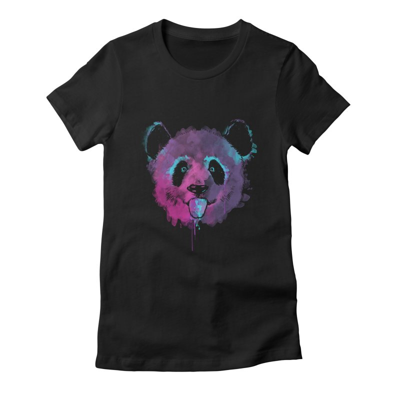 PANDA SPLASH Women's Fitted T-Shirt by Winterglaze's Artist Shop