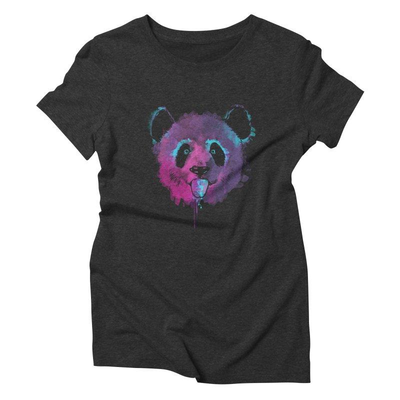 PANDA SPLASH Women's Triblend T-Shirt by Winterglaze's Artist Shop