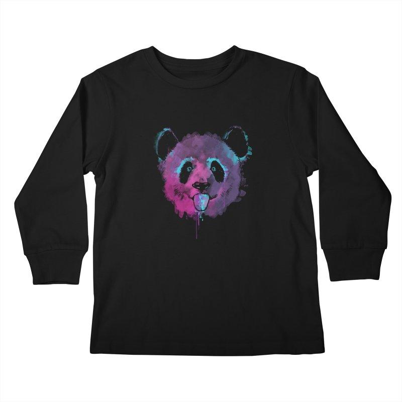 PANDA SPLASH Kids Longsleeve T-Shirt by Winterglaze's Artist Shop