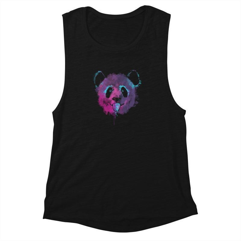 PANDA SPLASH Women's Muscle Tank by Winterglaze's Artist Shop