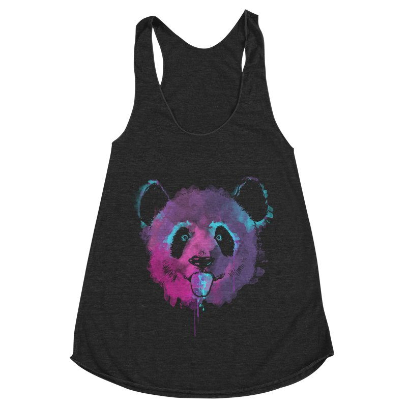 PANDA SPLASH Women's Racerback Triblend Tank by Winterglaze's Artist Shop