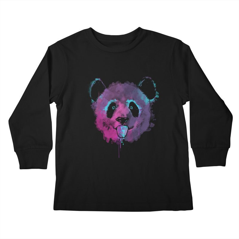 PANDA SPLASH Kids Longsleeve T-Shirt by Winterglaze's Artist Shop