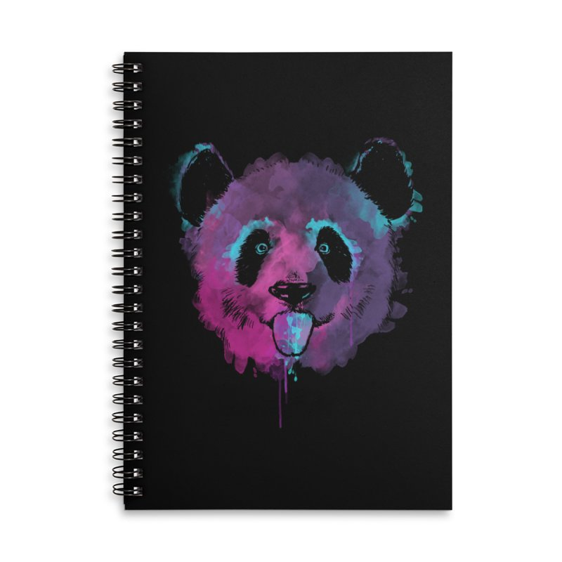 PANDA SPLASH Accessories Lined Spiral Notebook by Winterglaze's Artist Shop