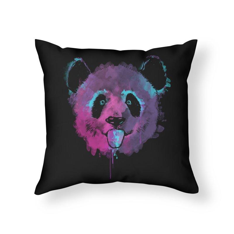 PANDA SPLASH Home Throw Pillow by Winterglaze's Artist Shop