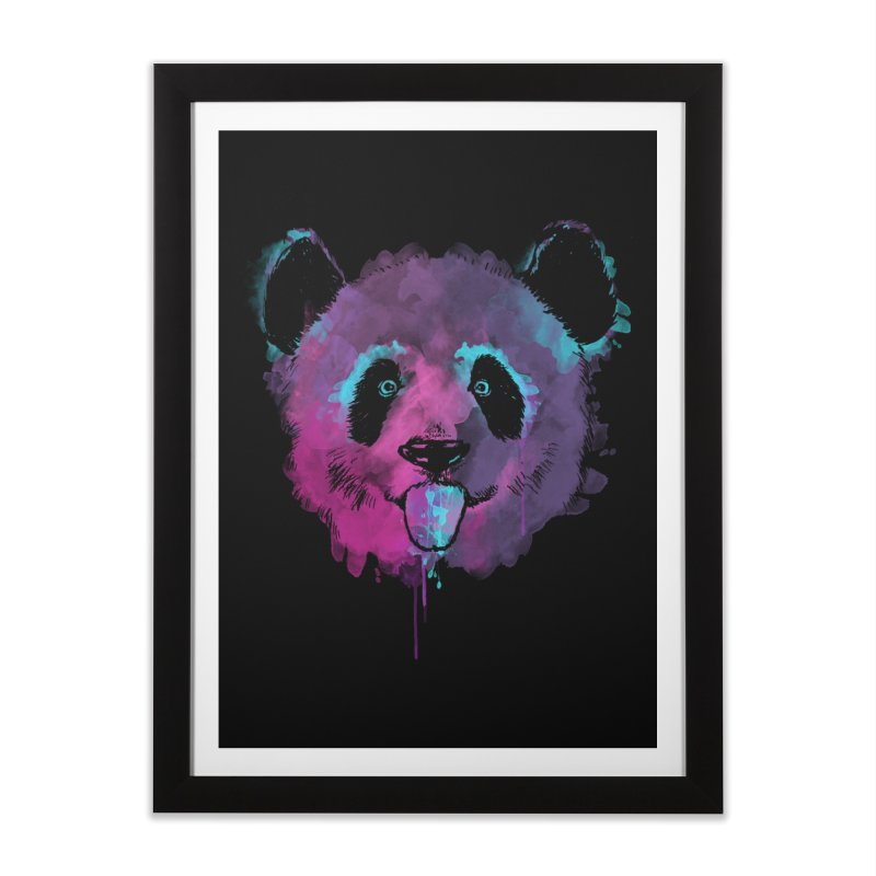 PANDA SPLASH Home Framed Fine Art Print by Winterglaze's Artist Shop