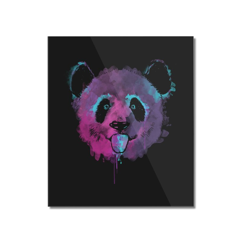 PANDA SPLASH Home Mounted Acrylic Print by Winterglaze's Artist Shop