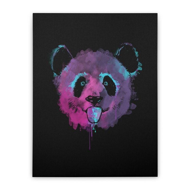 PANDA SPLASH Home Stretched Canvas by Winterglaze's Artist Shop
