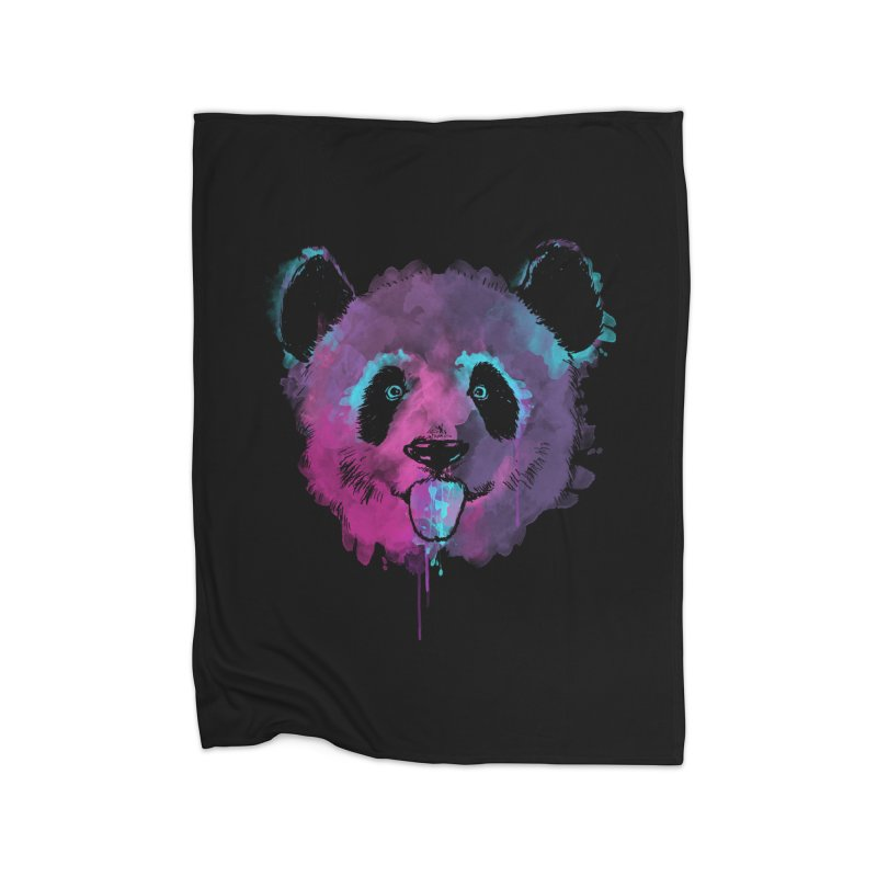 PANDA SPLASH Home Fleece Blanket Blanket by Winterglaze's Artist Shop
