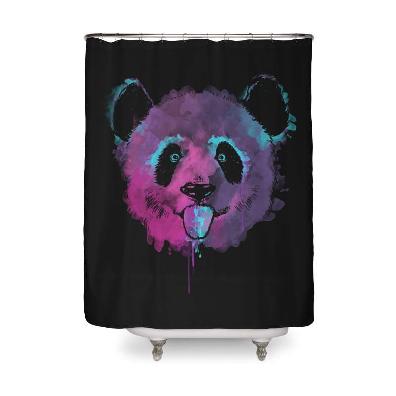PANDA SPLASH Home Shower Curtain by Winterglaze's Artist Shop