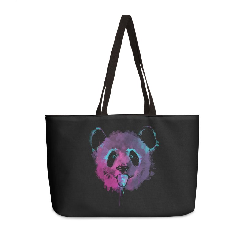 PANDA SPLASH Accessories Weekender Bag Bag by Winterglaze's Artist Shop