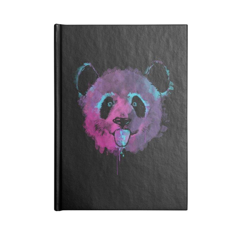 PANDA SPLASH Accessories Lined Journal Notebook by Winterglaze's Artist Shop