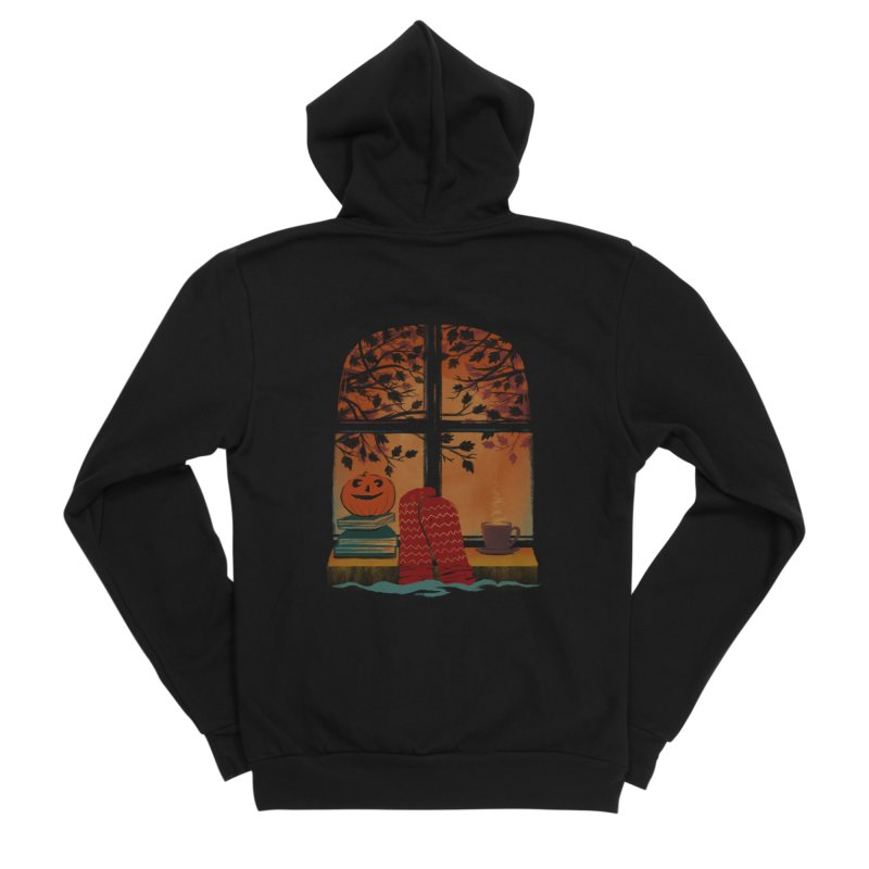 AUTUMN FEELS Men's Zip-Up Hoody by Winterglaze's Artist Shop