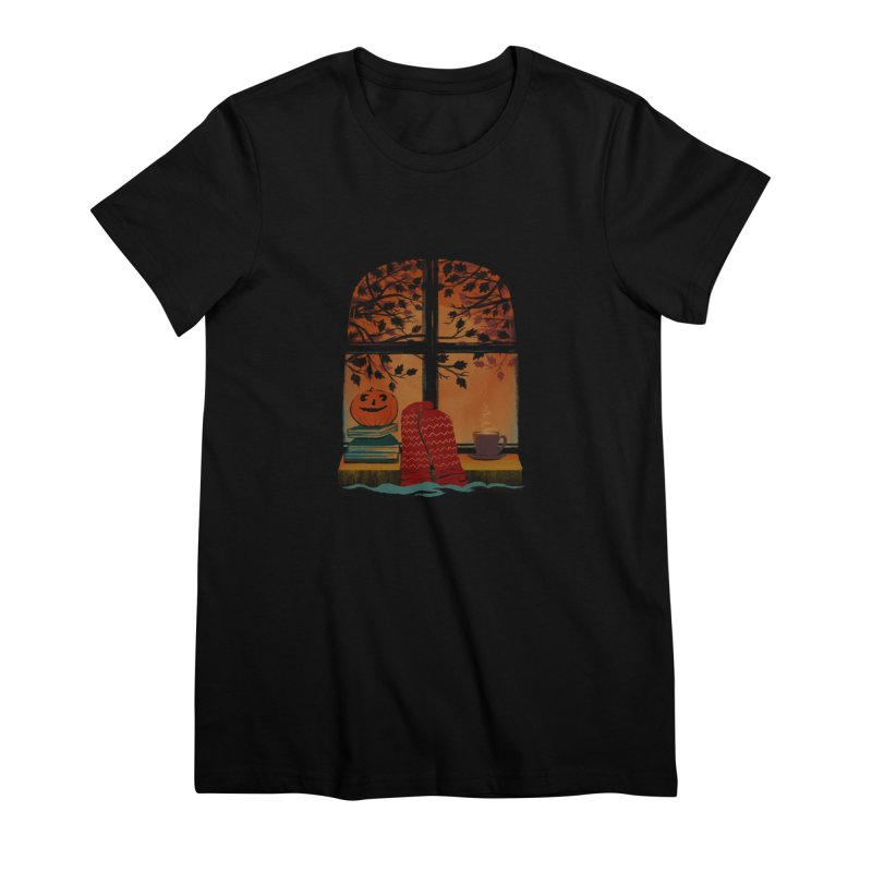 AUTUMN FEELS Women's Premium T-Shirt by Winterglaze's Artist Shop