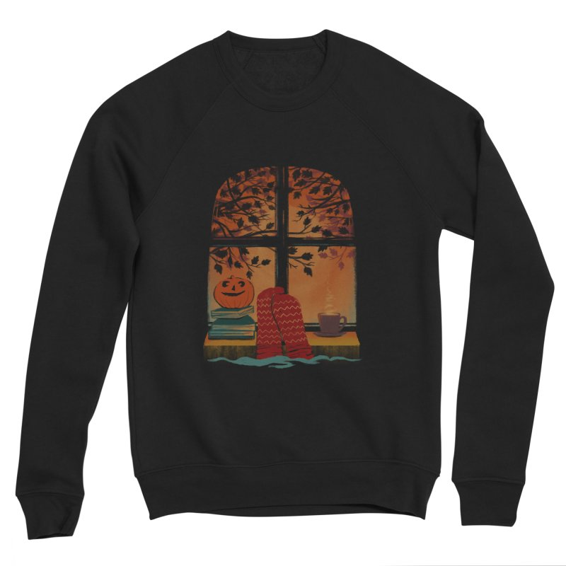 AUTUMN FEELS Men's Sponge Fleece Sweatshirt by Winterglaze's Artist Shop
