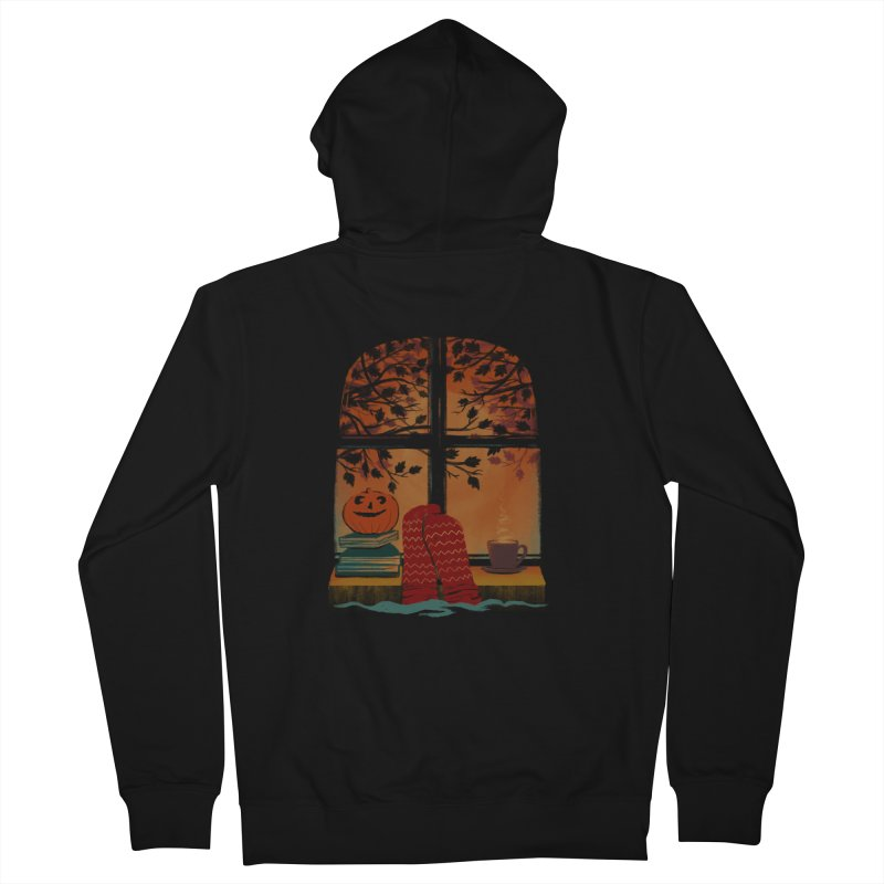 AUTUMN FEELS Men's French Terry Zip-Up Hoody by Winterglaze's Artist Shop