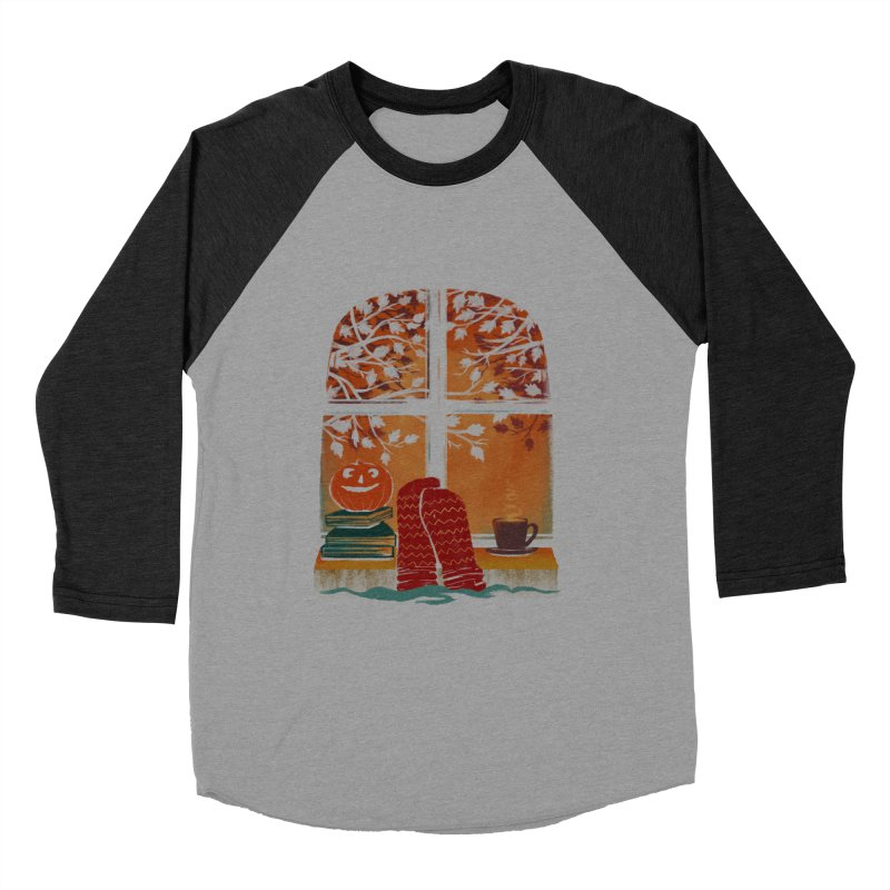 AUTUMN FEELS Women's Baseball Triblend Longsleeve T-Shirt by Winterglaze's Artist Shop