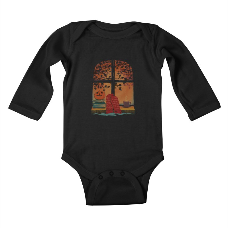 AUTUMN FEELS Kids Baby Longsleeve Bodysuit by Winterglaze's Artist Shop