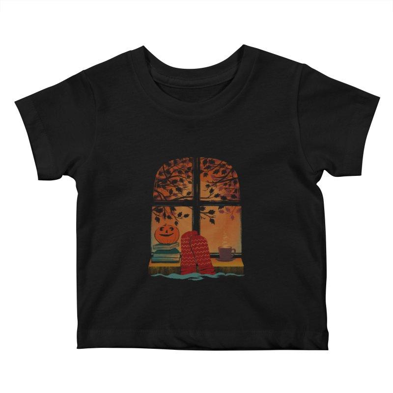AUTUMN FEELS Kids Baby T-Shirt by Winterglaze's Artist Shop