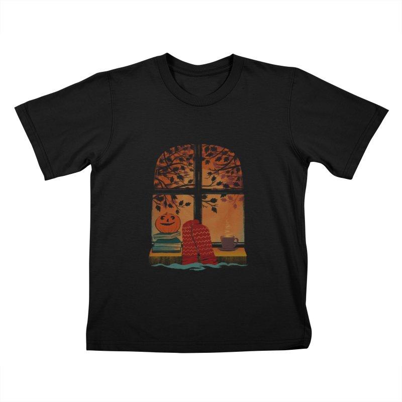 AUTUMN FEELS Kids T-Shirt by Winterglaze's Artist Shop