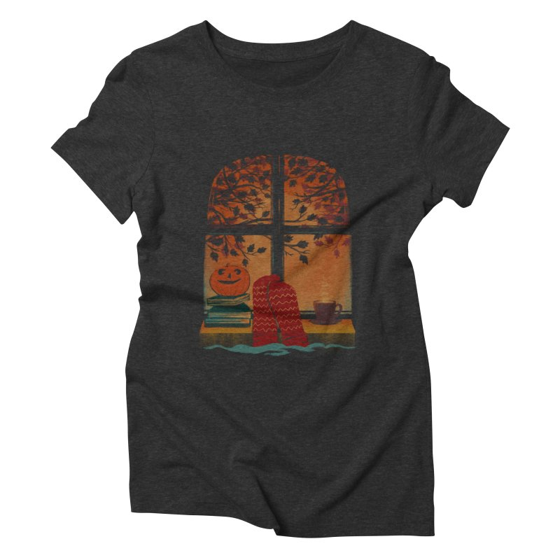 AUTUMN FEELS Women's Triblend T-Shirt by Winterglaze's Artist Shop