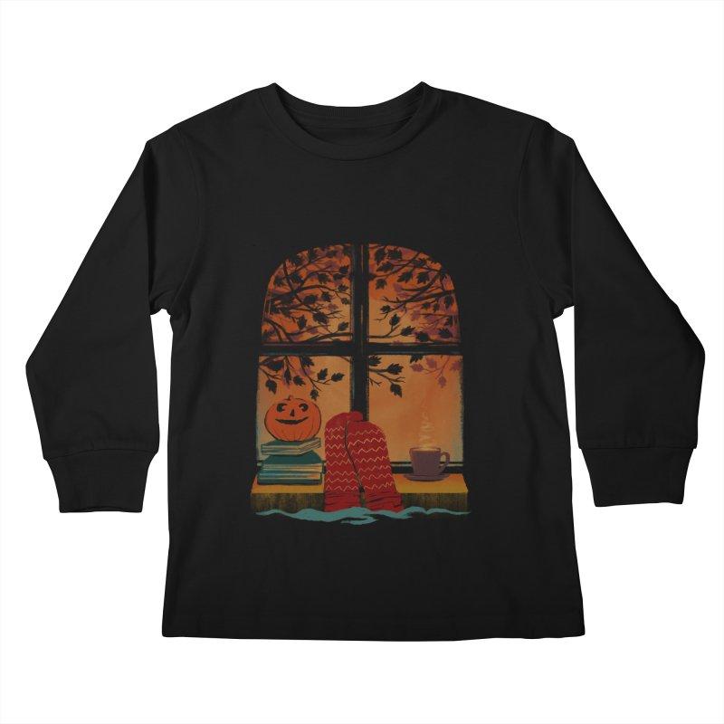 AUTUMN FEELS Kids Longsleeve T-Shirt by Winterglaze's Artist Shop
