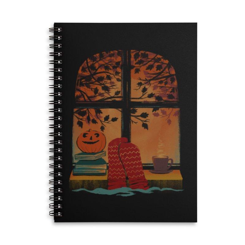 AUTUMN FEELS Accessories Lined Spiral Notebook by Winterglaze's Artist Shop