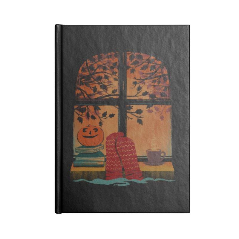 AUTUMN FEELS Accessories Lined Journal Notebook by Winterglaze's Artist Shop